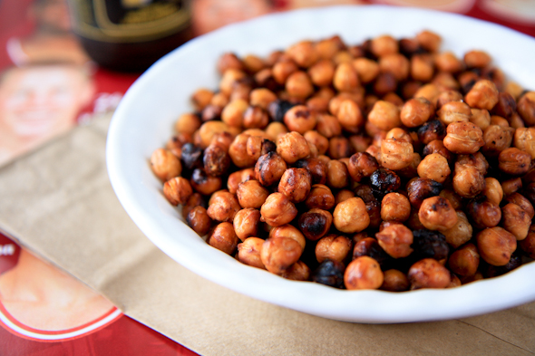 Sweet And Salty Roasted Chickpeas Recipe — Dishmaps