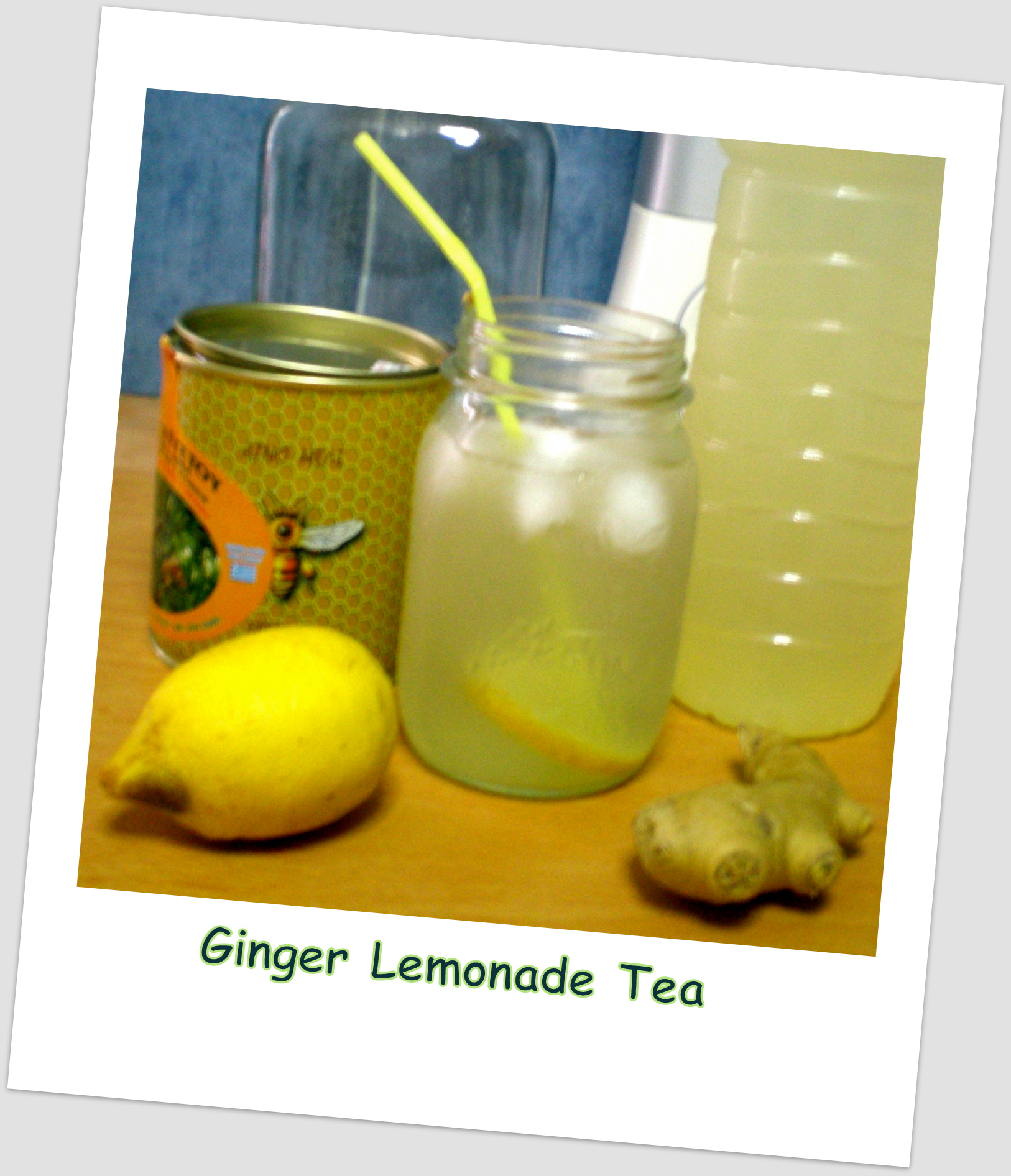 Refreshing Ginger-Lemonade w/Raw Honey Tea for Weight Control/Cleanse ...