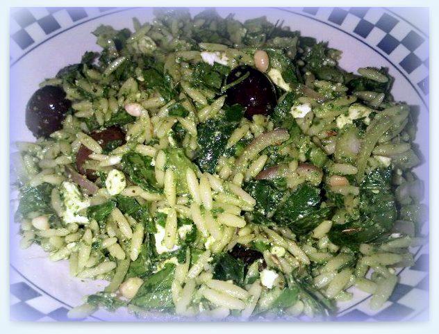 Spinach Orzo Salad | ByzantineFlowers
