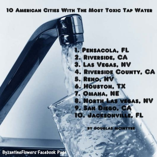 Top 10 U S Cities With The Worst Drinking Water