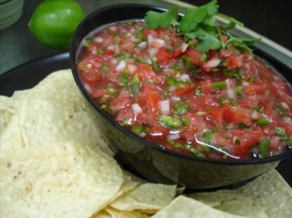 mexican-salsa with red tomatoes