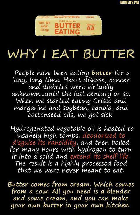 why I eat butter