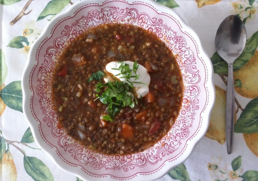 Black French lentils